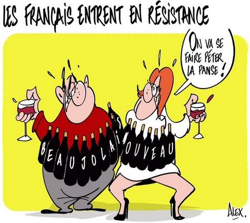 le beaujolais nouveau pour résister